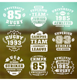 Rugby team badges vector image vector image