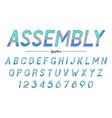 assembly decorative italic font design vector image