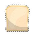 bread slice icon image vector image