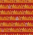 Christmas greeting card Vintage buildings vector image