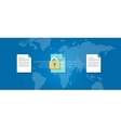 encryption decrypt cryptography data protection vector image
