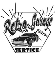 garage label auto service vector image