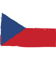 grunge czech republic flag or banner vector image
