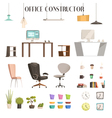 Modern Office Accessories Cartoon Set vector image