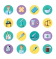 Pharmacy In Circle Icon Set vector image