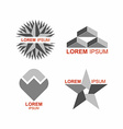 Set of logos in grey icons templates vector image