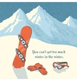 Snowboard winter mountain landscape vector image