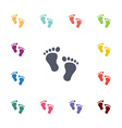 steps flat icons set vector image