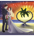 tropical beach wedding vector image