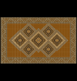 Luxurious ethnic rug with orange and yellow shades vector image