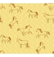 Seamless background with stylized horses vector image vector image