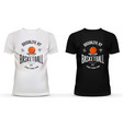 T-shirt cotton sportswear with basketball theme vector image