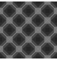 Seamless checkered black and white tablecloth vector image