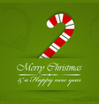 Merry christmas background with candy cane vector image