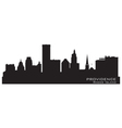 Providence Rhode Island skyline Detailed city silh vector image vector image