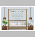 Interior design bedroom background 7 vector image