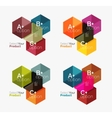 Business geometric layouts with option text vector image