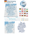 Federal Republic of Germany maps with markers vector image