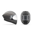 high quality light gray motorcycle helmet front vector image