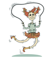 girl playing with a skipping rope isolated on vector image vector image
