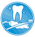 dental symbol - tooth vector image vector image