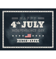4th of july Independence day chalkboard background vector image vector image