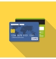 Credit Card Icon Flat Concept vector image vector image
