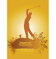 golf poster1 vector image