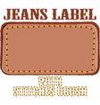 jeans label vector image vector image