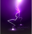 lightning background vector image vector image