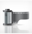 camera film roll silver vector image vector image