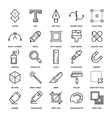 Design Tools Icons vector image