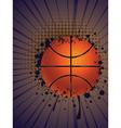 Basketball Ball on Rays Background vector image vector image