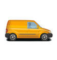 car vehicle minivan icon delivery cargo vector image