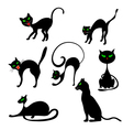 Cats in Different Poses Set vector image