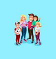 family book character vector image