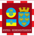 national ensigns of neideroesterreich - austria vector image