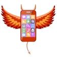 Smartphone devil vector image