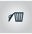 Trash can vector image