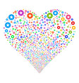quality fireworks heart vector image