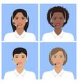 female avatar set vector image