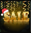 golden sale on the black background vector image