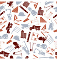 construction icons seamless color pattern eps10 vector image