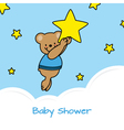 bear and stars vector image vector image