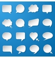 Modern paper speech bubbles set on blue background vector image vector image