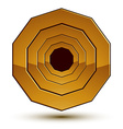 Geometric classic golden element isolated on white vector image