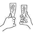 Cheers champagne glass vector image vector image