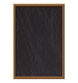 Vertical empty wooden chalk board vector image