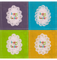 Easter cards with lacy frames vector image