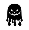 evil ghost icon vector image